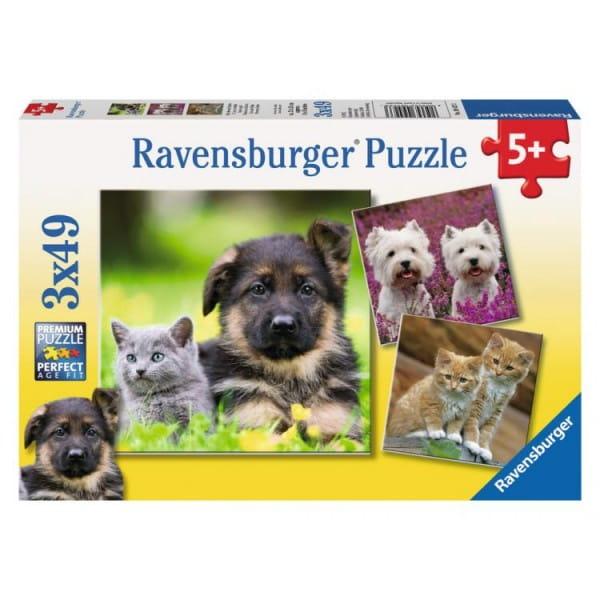 Пазл Ravensburger 09423 Щенки и котята 3 в 1