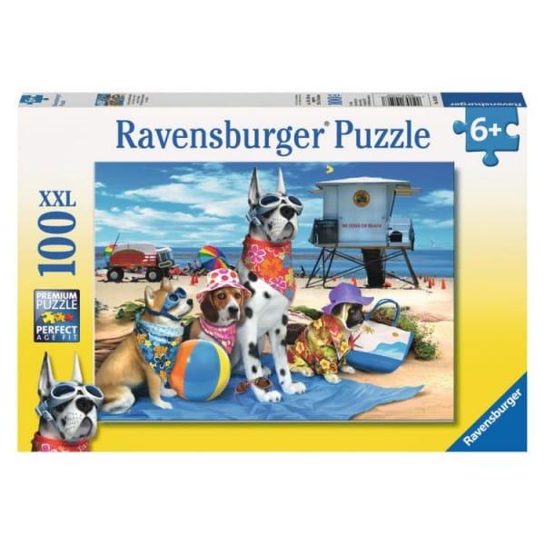 Пазл Ravensburger 10526 Собаки на пляже - 100 деталей