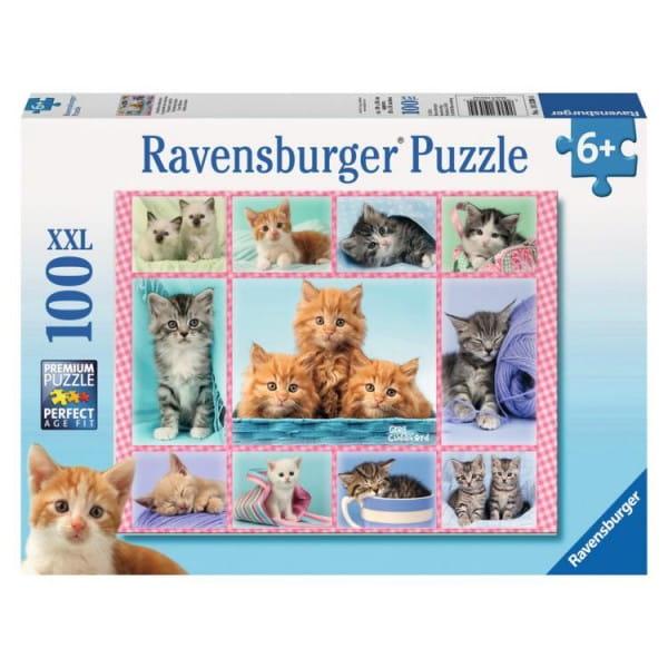 Пазл Ravensburger 10530 Забавные котята - 100 деталей
