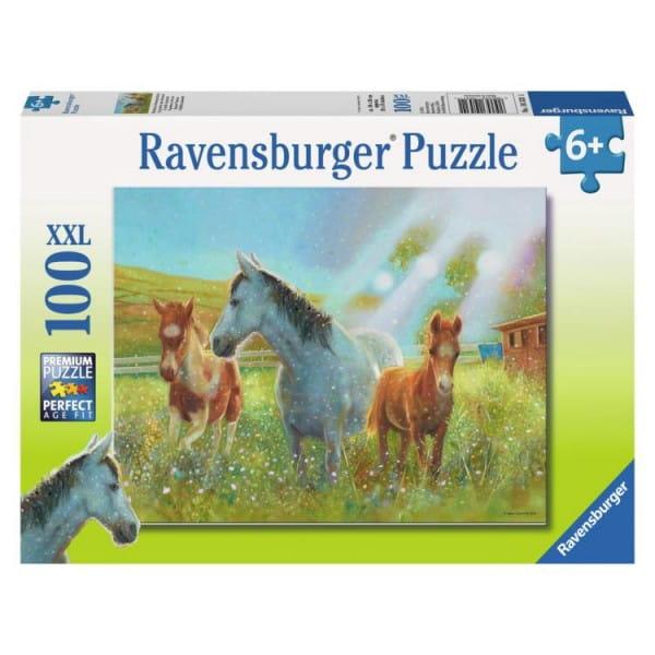 Пазл Ravensburger 10531 Лошади в лучах солнца - 100 деталей