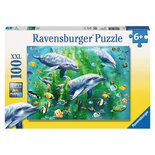 Пазл Ravensburger 10605 Три дельфина - 100 деталей