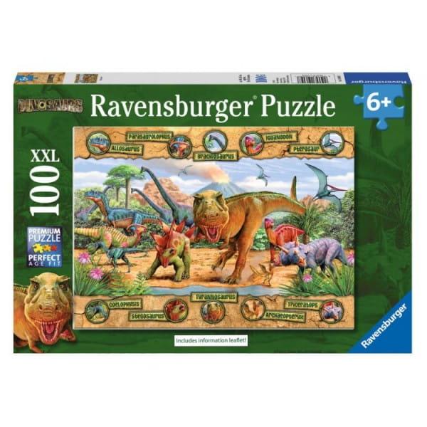 Купить Пазл Ravensburger Динозавры - 100 деталей в интернет магазине игрушек и детских товаров