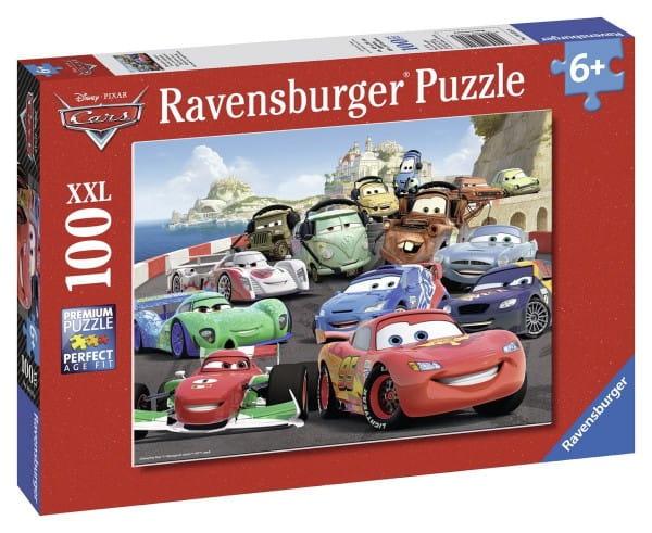 Купить Пазл Ravensburger Тачки Взрывные гонки - 100 деталей в интернет магазине игрушек и детских товаров