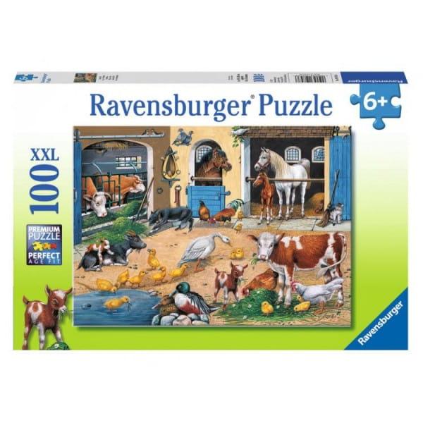 Купить Пазл Ravensburger Жизнь домашних животных - 100 деталей в интернет магазине игрушек и детских товаров