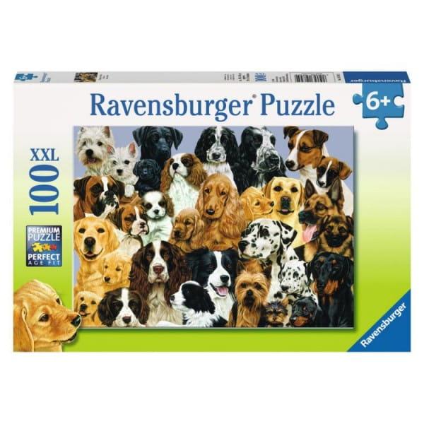 Пазл Ravensburger 10745 Парад собак - 100 деталей