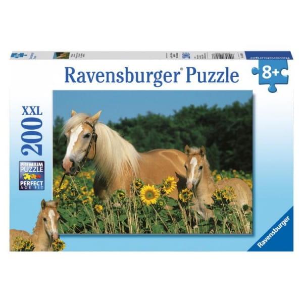 Пазл Ravensburger 12628 Лошади в подсолнухах - 200 деталей