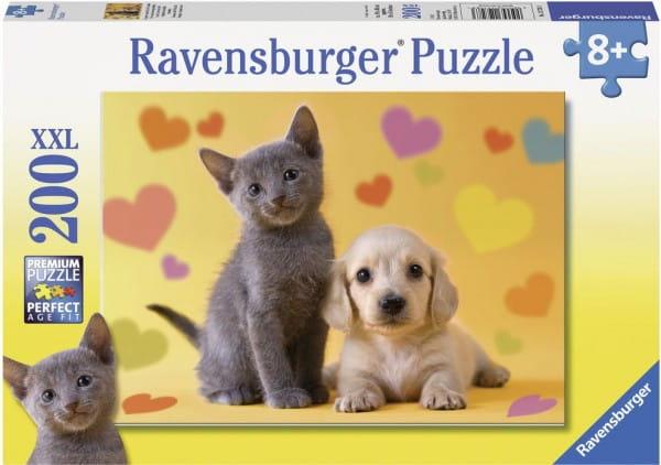 Купить Пазл Ravensburger Озорные друзья - 200 деталей в интернет магазине игрушек и детских товаров