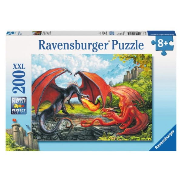 Пазл Ravensburger 12708 Битва драконов - 200 деталей