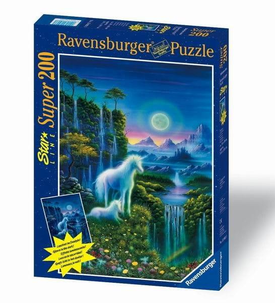 Светящийся пазл Ravensburger 13903 Единороги - 200 деталей