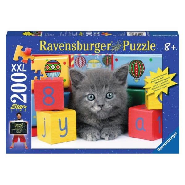 Пазл Ravensburger 13908 Котенок с кубиками - 300 деталей