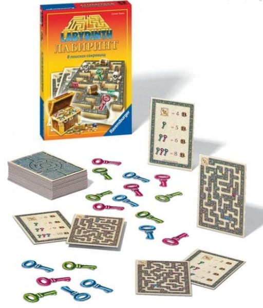 Купить Настольная игра Ravensburger Лабиринт В поисках сокровищ в интернет магазине игрушек и детских товаров