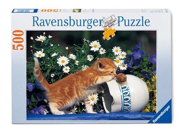 Пазл Ravensburger 14104 Любопытный котенок - 500 деталей