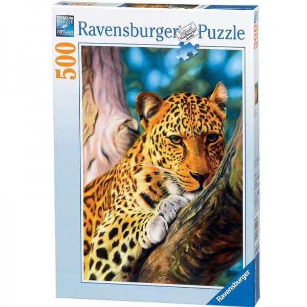 Пазл Ravensburger 14107 Леопард на дереве - 500 деталей