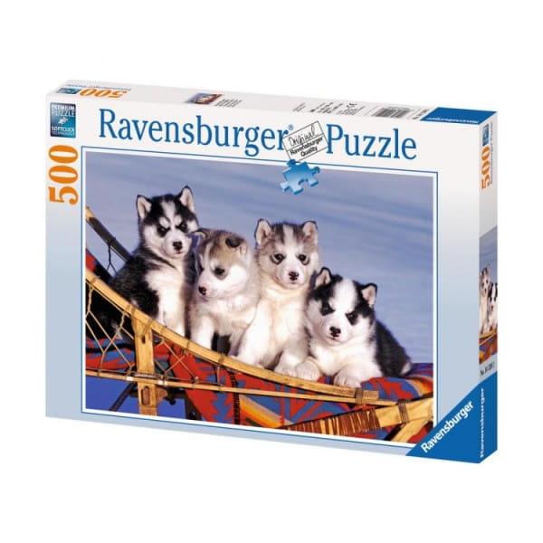 Пазл Ravensburger 14120 Щенки хаски - 500 деталей