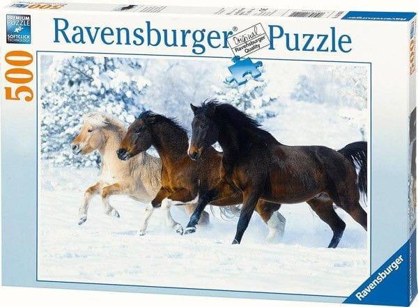 Пазл Ravensburger 14140 Галопом по снегу - 500 деталей
