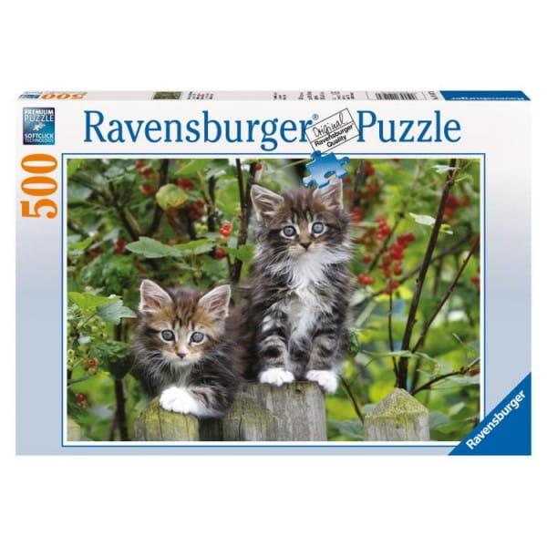 Купить Пазл Ravensburger Котята на заборе - 500 деталей в интернет магазине игрушек и детских товаров