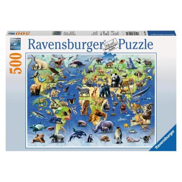 Пазл Ravensburger 14264 Редкие виды животных - 500 деталей