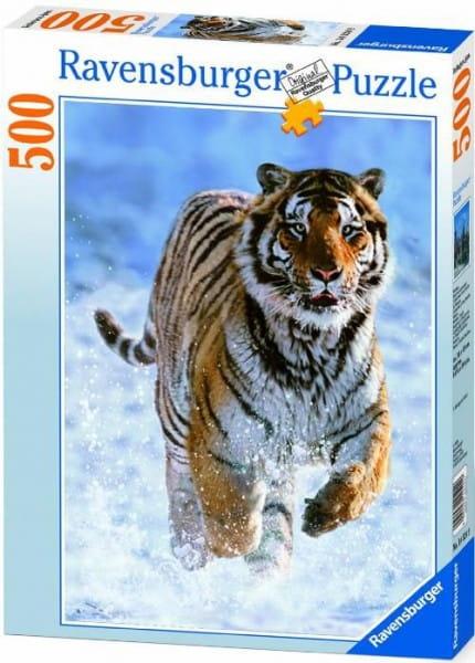 Пазл Ravensburger 14475 Тигр на снегу - 500 деталей