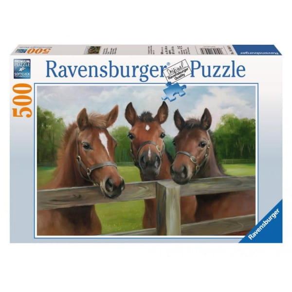 Пазл Ravensburger 14566 Три лошади - 500 деталей