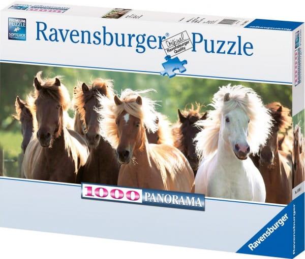 Панорамный пазл Ravensburger 15091 Дикие лошади - 1000 деталей