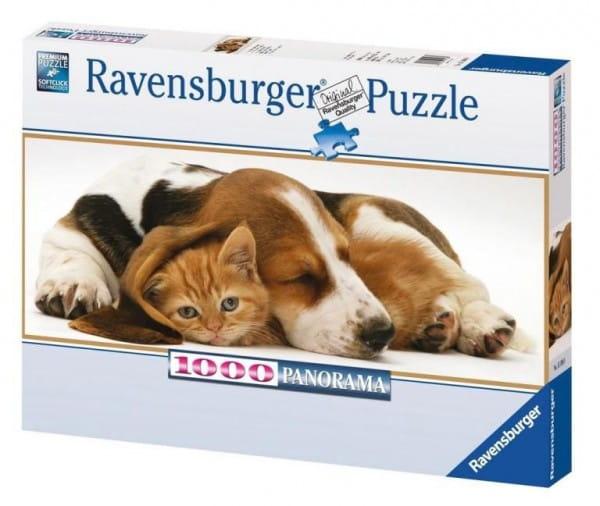 Купить Панорамный пазл Ravensburger Лучшие друзья - 1000 деталей в интернет магазине игрушек и детских товаров