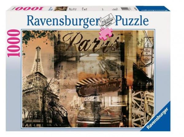 Купить Пазл Ravensburger Воспоминание о Париже - 1000 деталей в интернет магазине игрушек и детских товаров
