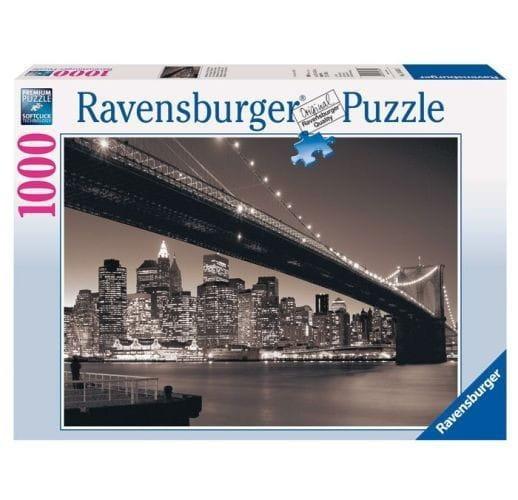Купить Пазл Ravensburger Бруклинский мост - 1000 деталей в интернет магазине игрушек и детских товаров