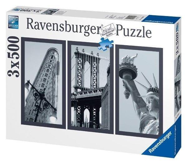 Купить Пазл Ravensburger Воспоминания о Нью-Йорке - 1500 деталей в интернет магазине игрушек и детских товаров