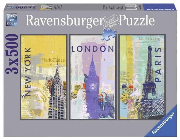 Пазл-триптих Ravensburger 16329 Путешествие по миру - 1500 деталей