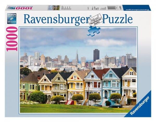 Пазл Ravensburger 19365 Викторианские дома Сан-Франциско - 1000 деталей