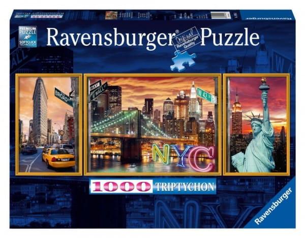 Пазл-триптих Ravensburger 19995 Ослепительный Нью-Йорк - 1000 деталей