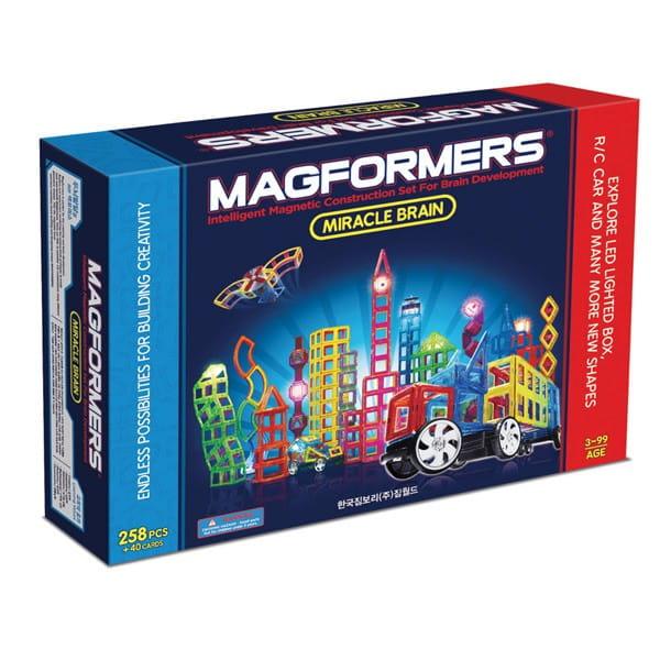 Конструктор Magformers Miracle Brain Set с колесами и пультом (258 деталей)