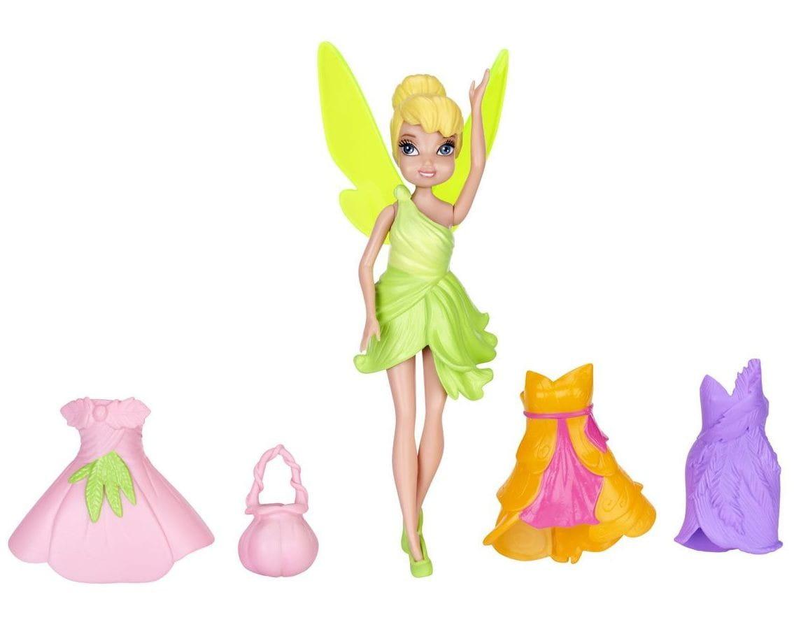 Кукла Disney Fairies 747340 Дисней Фея 11 см и 3 платья - Динь-динь