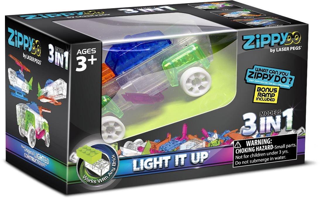 Светодиодный конструктор 3 в 1 Laser Pegs Zippydo