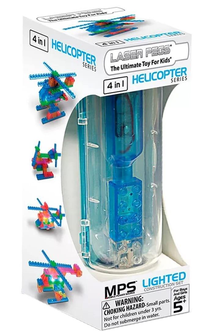 Светодиодный конструктор 4 в 1 LASER PEGS Серия MPS - Вертолеты (в футляре)