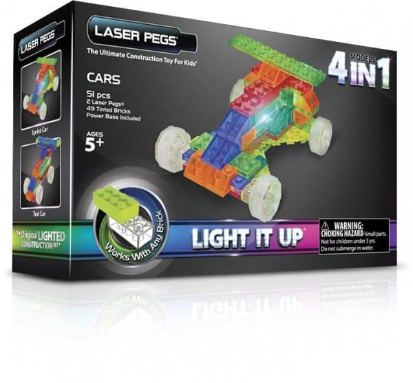 Светодиодный конструктор 4 в 1 Laser Pegs Гонка