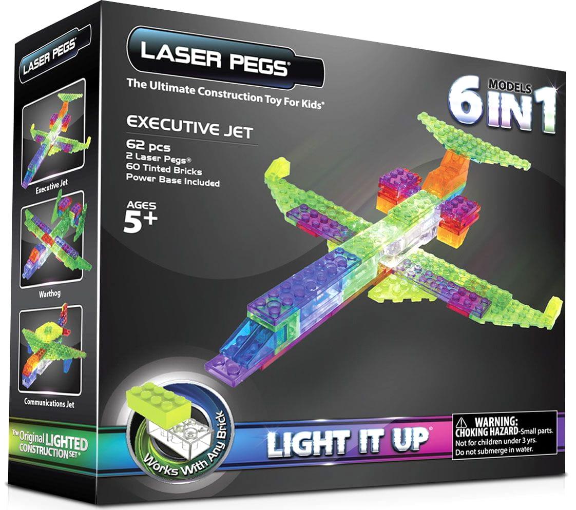Светодиодный конструктор 6 в 1 Laser Pegs Самолет