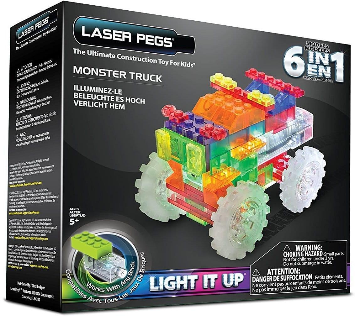 Светодиодный конструктор 6 в 1 Laser Pegs ZD110B Гигантский грузовик