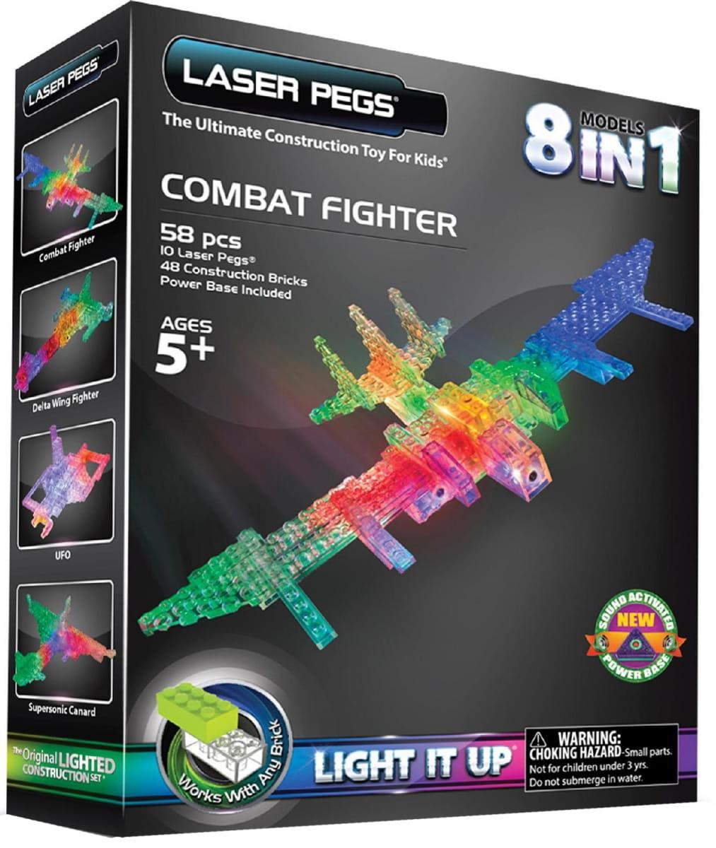 Светодиодный конструктор 8 в 1 Laser Pegs Воздушный транспорт