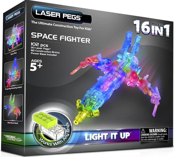 Светодиодный конструктор 16 в 1 Laser Pegs Космос