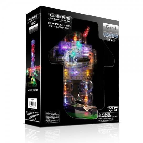 Светодиодный конструктор 6 в 1 Laser Pegs Бот