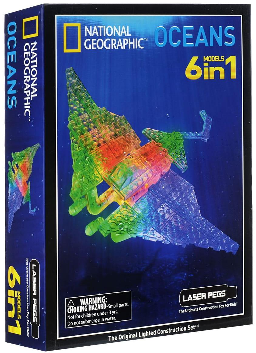 Светодиодный конструктор 6 в 1 Laser Pegs National Geographic - Океан