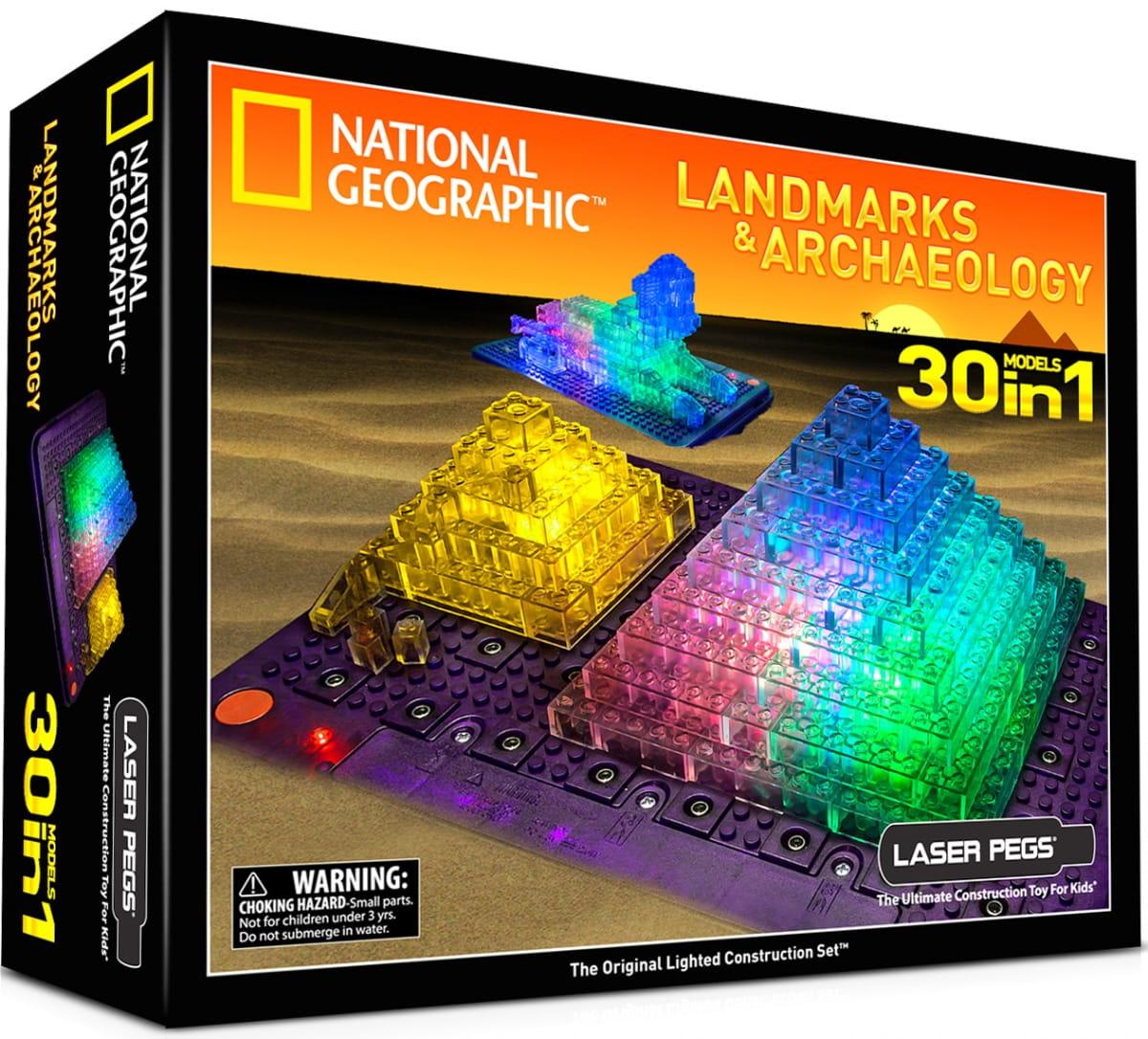 Светодиодный конструктор 30 в 1 Laser Pegs National Geographic - Археология