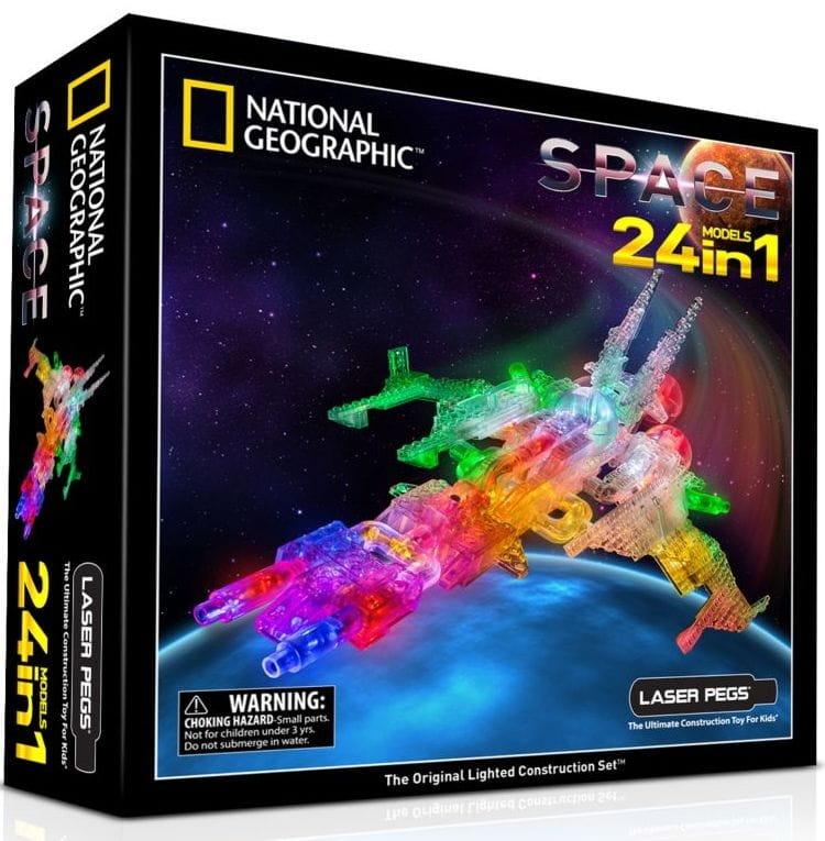 Светодиодный конструктор 24 в 1 Laser Pegs NG400 National Geographic - Космос