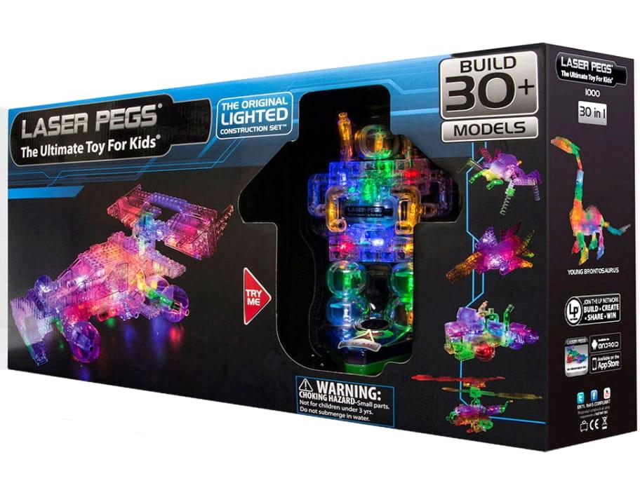 Светодиодный конструктор 30 в 1 Laser Pegs 1000 Болид Гран-При