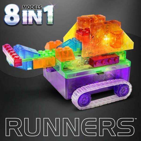 Светодиодный конструктор 8 в 1 Laser Pegs Танк (цветной)
