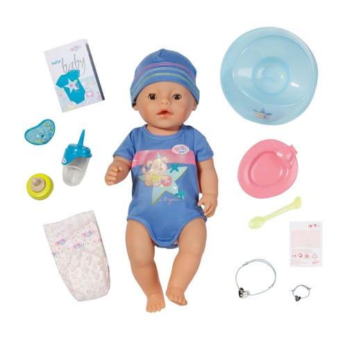 Купить Интерактивная кукла-мальчик Baby born - 43 см (Zapf Creation) в интернет магазине игрушек и детских товаров