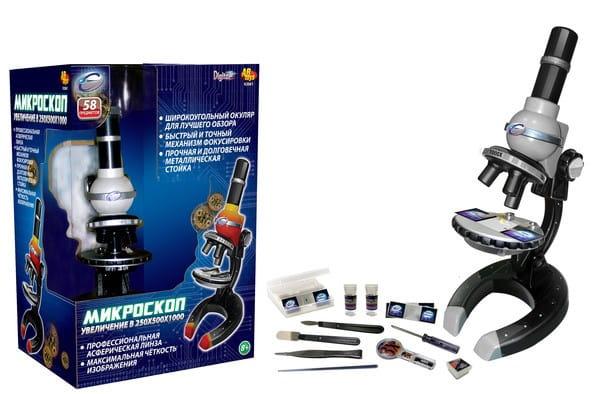 Купить Детский Металлический микроскоп Eastcolight - 58 предметов в интернет магазине игрушек и детских товаров