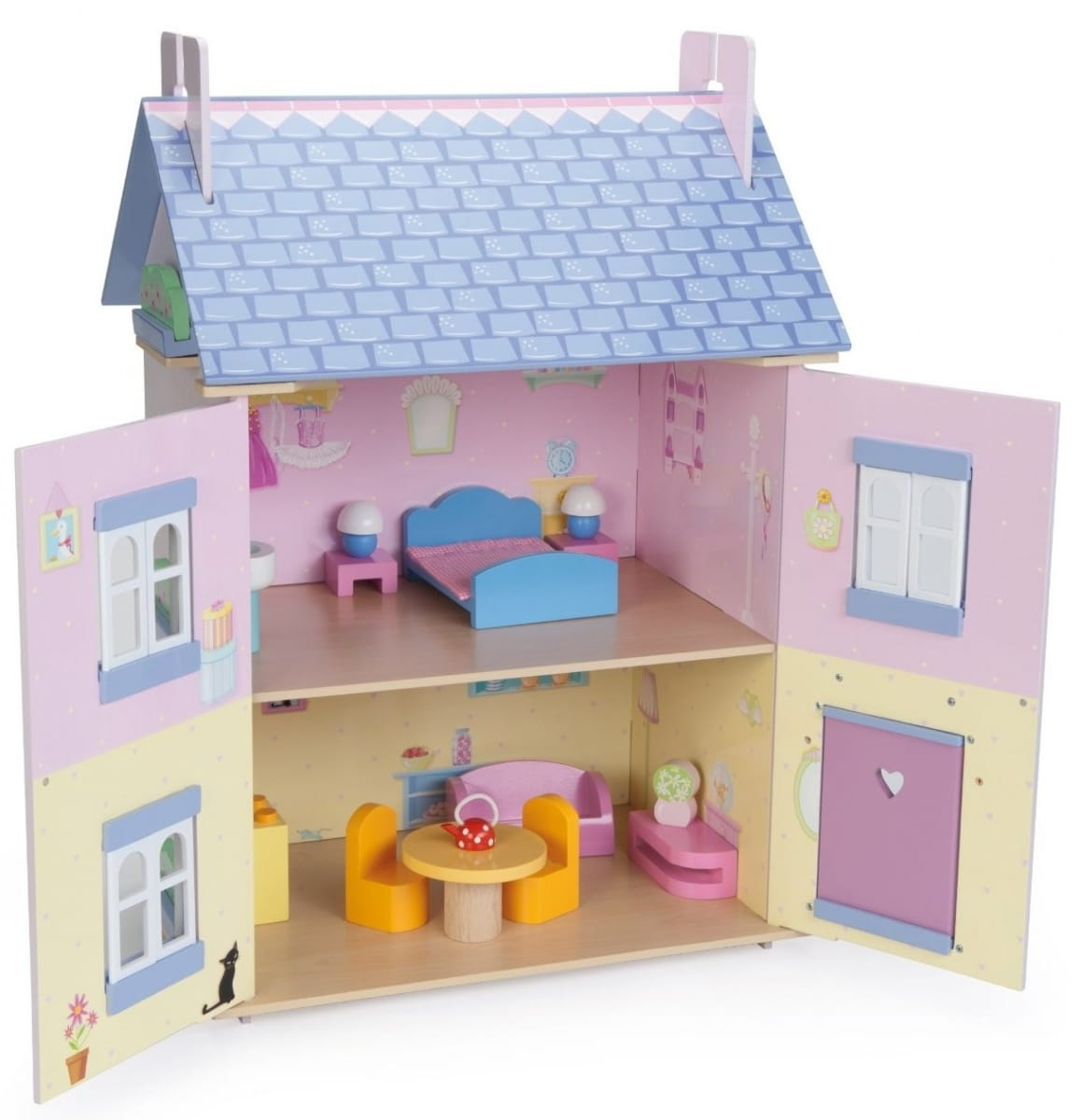 Как сделать из бумаги домик для маленьких куколок