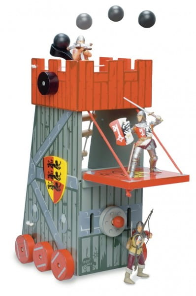Игровой набор Le Toy Van TV224 Башня осады - красная